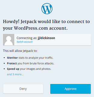 Ready to connect Jetpack and WordPress